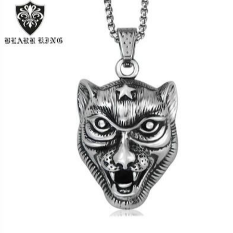 New first aggressive personality men's stainless steel alternative animal Tiger Pendant European and American Animal Series