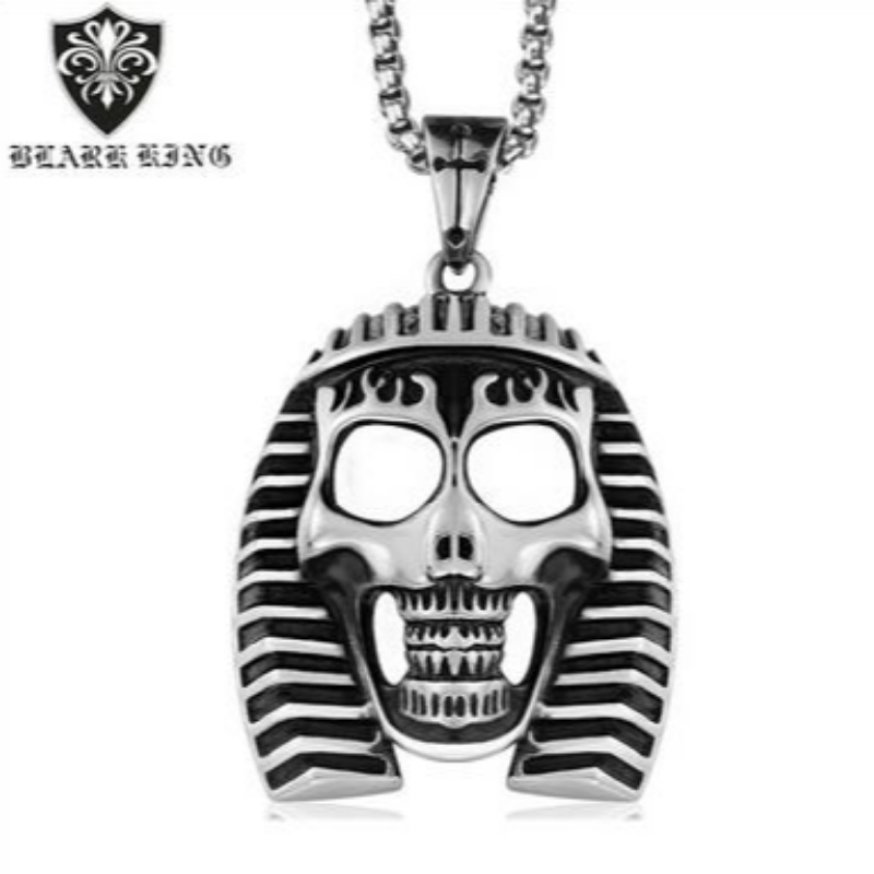 Creative European and American stainless steel accessories retro personality Egyptian pharaoh Skull Pendant Jewelry European and American Skull Pendant wholesale