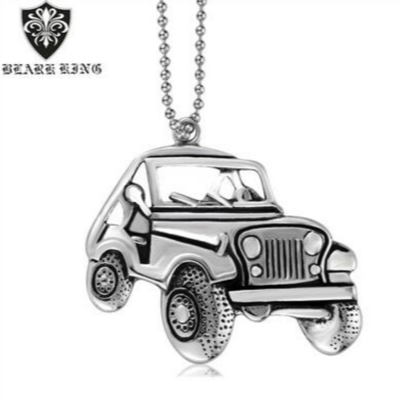 Personality jewelry trend personality stainless steel men\\\\\\\'s car pendant personality fashion car Stainless Steel Pendant Necklace
