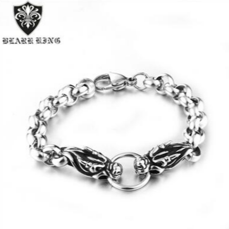 Baqi Korean version leading stainless steel bracelet Jewelry European and American personality men's stainless steel bracelet jewelry wholesale